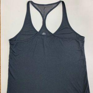 Alo Yoga Workout dark gray Tank Top size medium